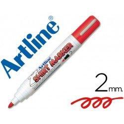 Rotulador para tela textil Artline rojo