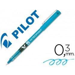 Rotulador Pilot V-5 0,3 mm Azul claro