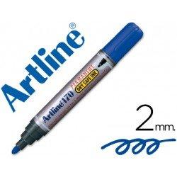 Rotulador Permanente Artline 170 Azul Punta Redonda
