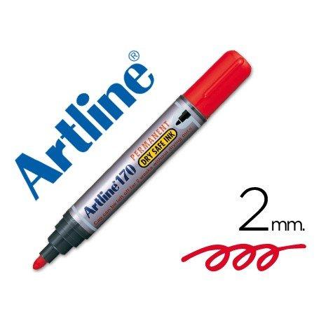 Rotulador Permanente Artline 170 Rojo Punta Redonda