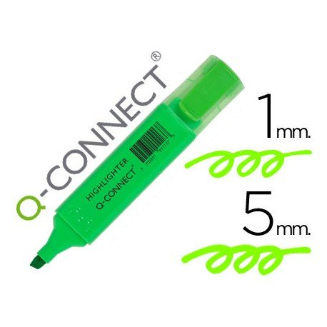 Rotulador fluorescente Q-Connect verde