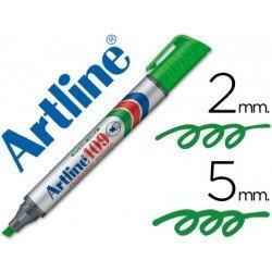 Rotulador Permanente Artline 109 Verde Punta Biselada