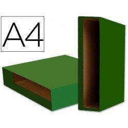Caja archivador de palanca Liderpapel Din A4 Color System Verde