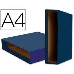 Caja archivador de palanca Liderpapel Din A4 Color System Azul