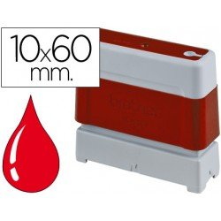 Sello Automatico Brother 10 x 60 rojo