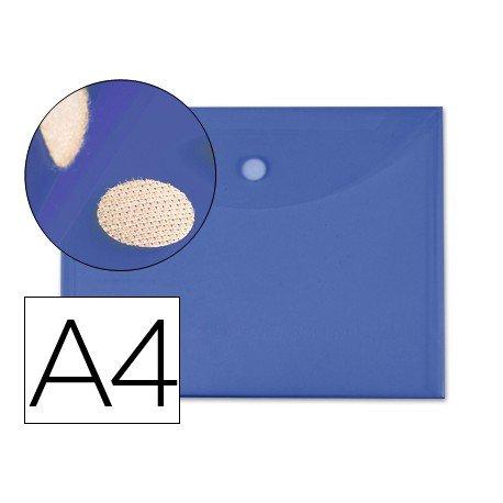 Carpeta sobre con velcro Din A4 Liderpapel azul