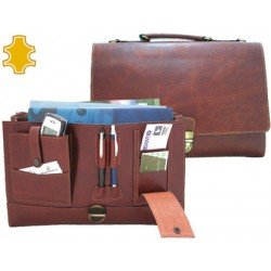 Portadocumentos Cartera Q-Connect Marron 370x262x76 mm