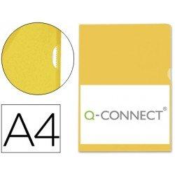 Funda dossier uñero plastico Q-Connect Din A4 amarillo