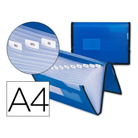 Carpeta clasificadora polipropileno Liderpapel Din A4 azul