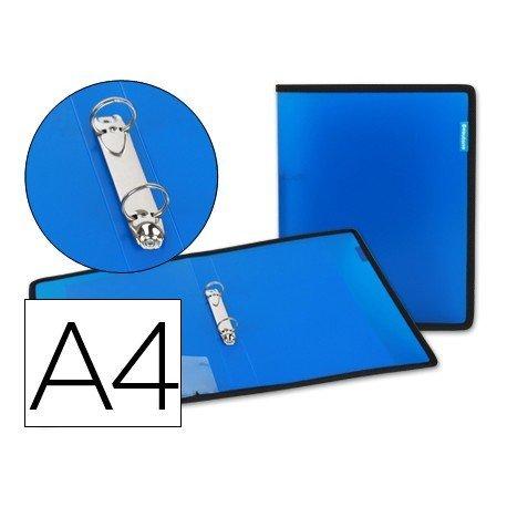 Carpeta de 2 anillas Beautone polipropileno Din A4 lomo 35 mm azul
