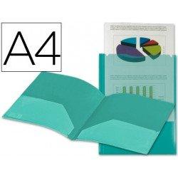 Carpeta dossier con doble bolsa Liderpapel Din A4 verde
