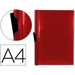 Carpeta dossier con pinza lateral Liderpapel 60 hojas Din A4 rojo