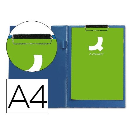 Portanotas plastico miniclip superior Q-Connect azul
