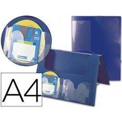 Carpeta lomo rigido gomas portadocumentos Beautone Din A4 azul