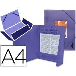 Carpeta lomo flexible solapas Liderpapel Din A4 violeta