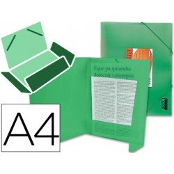 Carpeta lomo flexible solapas Liderpapel Din A4 verde