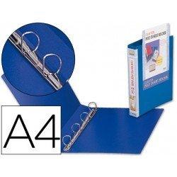 Carpeta canguro 4 anillas Beautone polipropileno Din A4 azul