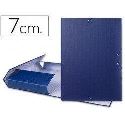 Carpeta de proyectos Liderpapel de carton con gomas Paper Coat lomo 70 mm azul