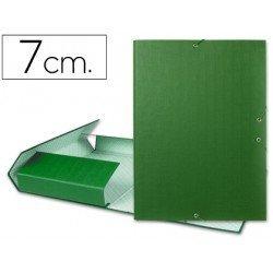 Carpeta de proyectos Liderpapel de carton con gomas Paper Coat lomo 70 mm verde