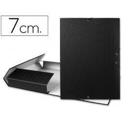 Carpeta de proyectos Liderpapel de carton con gomas Paper Coat lomo 70 mm negro