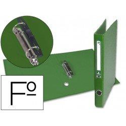 Carpeta anillas carton forrado Liderpapel Paper Coat Documenta lomo 40 mm verde