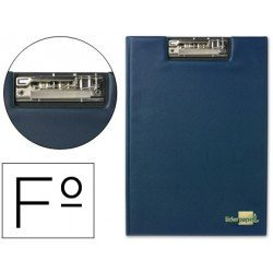 Portanotas plastico miniclip superior Liderpapel azul