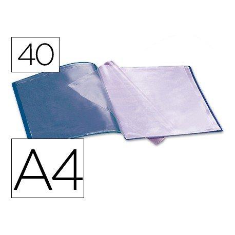 Carpeta escaparate 40 fundas Beautone azul