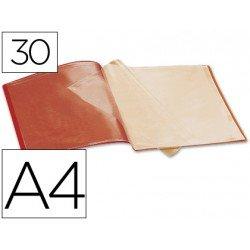Carpeta escaparate 30 fundas Beautone rojo