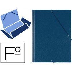 Carpeta lomo flexible con solapas Saro azul