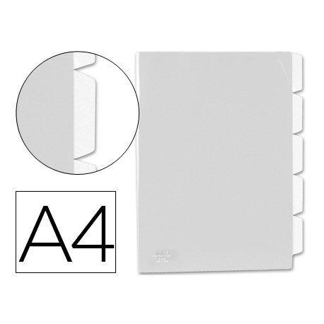 Carpeta dossier 5 separadores Beautone Din A4 incoloro