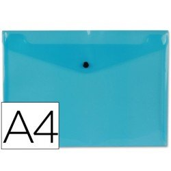 Carpeta tamaño sobre Liderpapel con cierre de broche azul