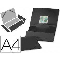 Carpeta lomo flexible con solapas Liderpapel Din A4 negra