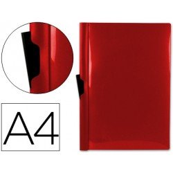 Carpeta dossier con pinza lateral Liderpapel 30 hojas Din A4 rojo