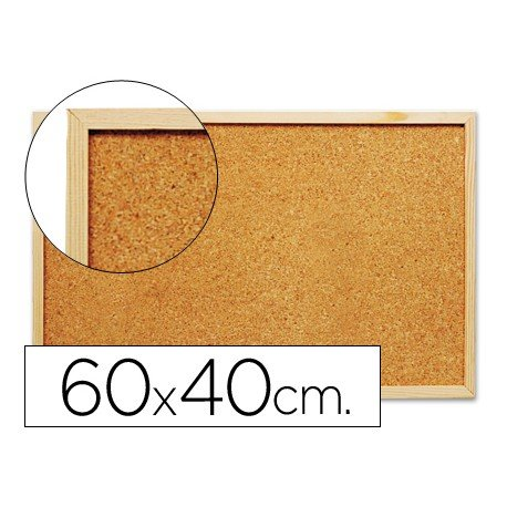 Tablero de corcho mural Q-Connect de 60x40 y grosor 1.5 cm