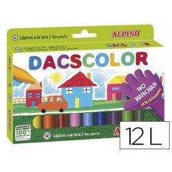 Lapices cera semiblanda DacsColor Alpino caja de 12 colores