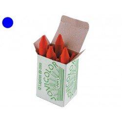 Lapices cera Jovi caja de 12 unidades color azul oscuro