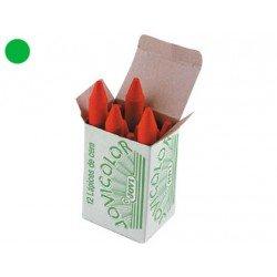 Lapices cera Jovi caja de 12 unidades color verde claro