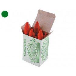 Lapices cera Jovi caja de 12 unidades color verde oscuro