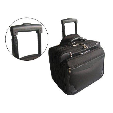 "Maletin para portatil 18"" Con ruedas nylon negro Q-connect"