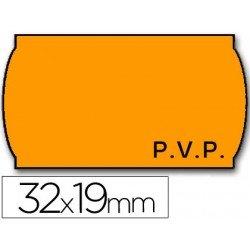 Rollo Etiquetas adhesivas Meto Precios naranja 32 x 19