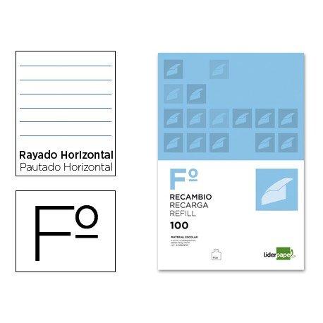 Recambio Liderpapel Folio pautado horizontal
