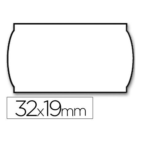 Rollo Etiquetas adhesivas Meto lisa removible 32 x 19