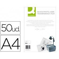Transparencias Din A4 Q-Connect, válido para impresoras láser B/N