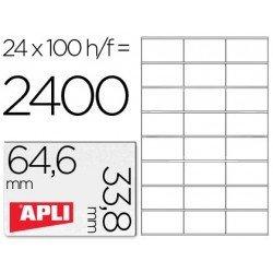 Etiquetas Adhesivas Apli 64,6 x 33,8 mm
