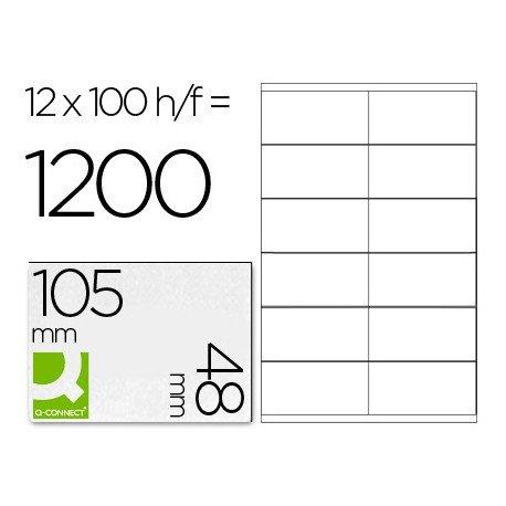 Etiquetas Adhesivas marca Q-Connect 105 x 48 mm