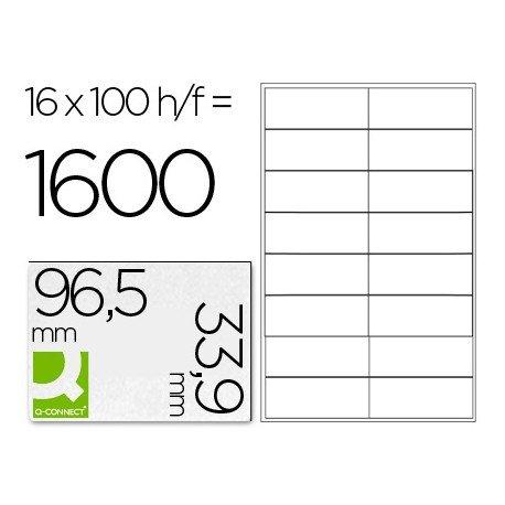 Etiquetas Adhesivas Q-Connect 96,5 x 33,9 mm