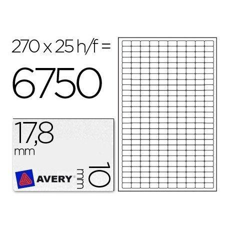 Etiquetas Adhesivas Removibles Avery 17,8 x 10 mm