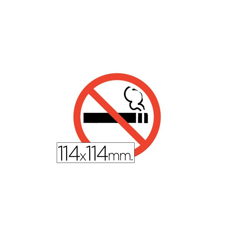 Prohibido Fumar Apli Pictograma Autoadhesivo (27323) - 20milproductos