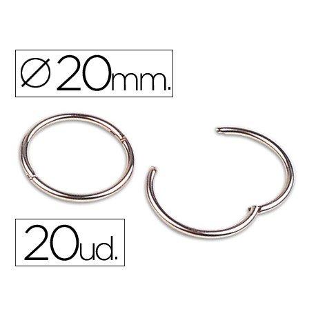 Anillas bisagra niqueladas n.1 diametro 20 mm. Caja de 20