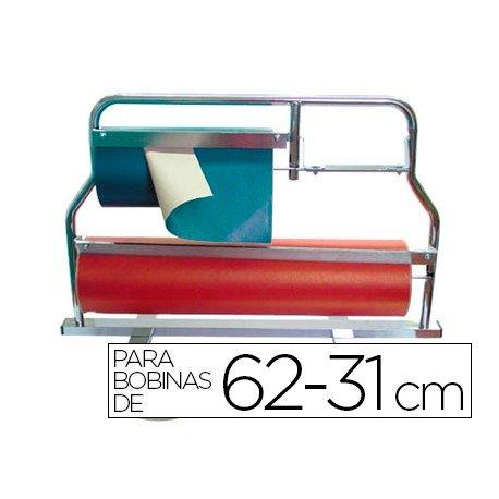 Portarrollos mostrador corta papel pintado para bobinas de 62-31 cm
